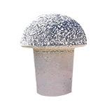 küçük siyah ve beyaz mozaikli beton mantar duba