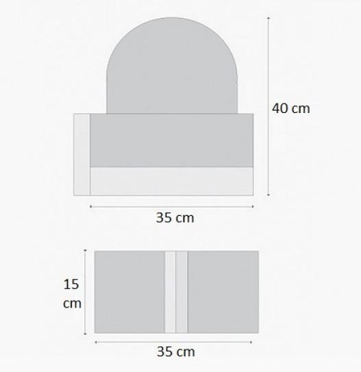 Belediye Tipi Mozaikli Mantar Duba ölçüleri
